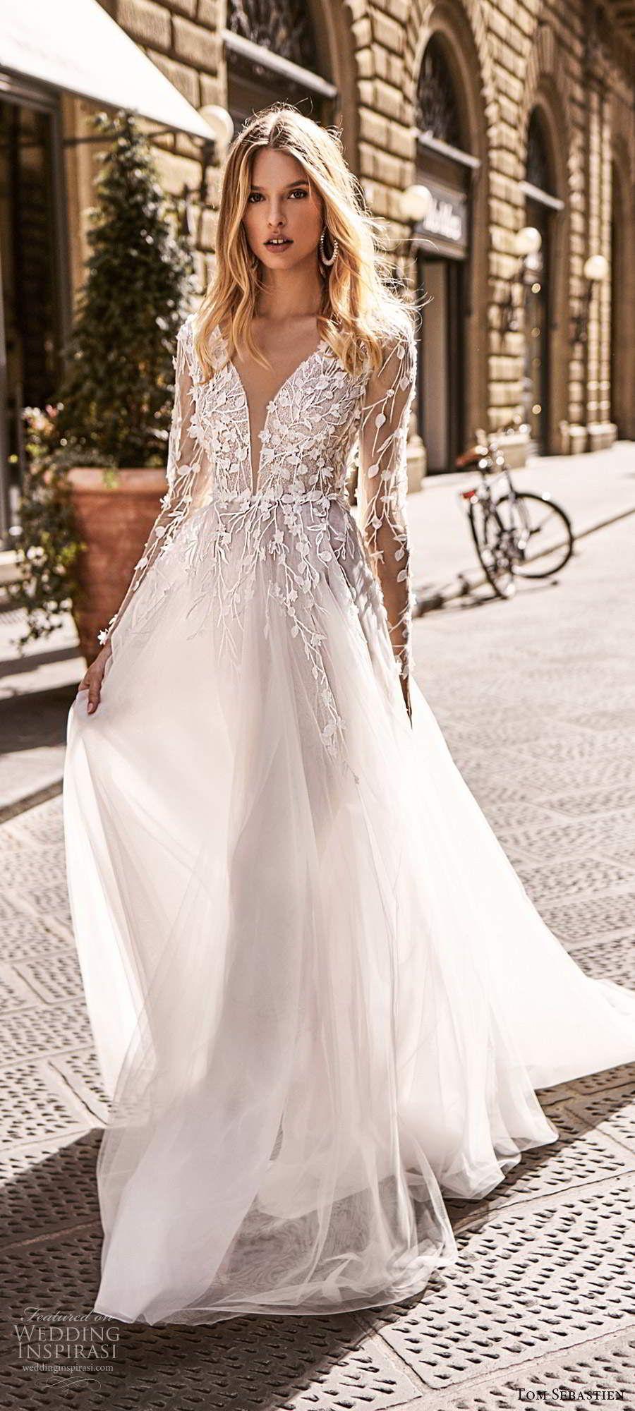 Tom Sebastien 2020 Wedding Dresses Florence Bridal Collection Wedding Inspirasi Wedding Dresses Wedding Dress Couture Ball Gown Wedding Dress [ 2000 x 900 Pixel ]