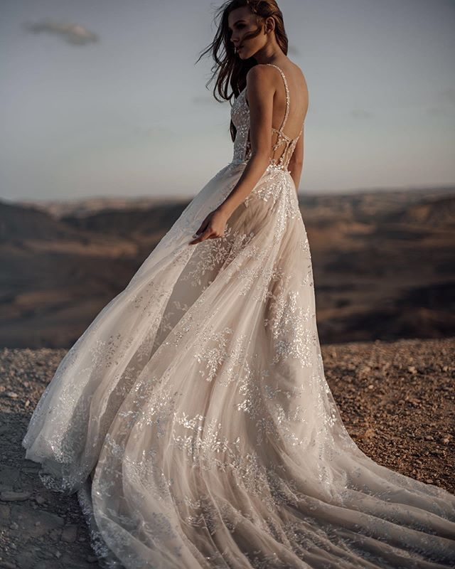 Defining Romance - The ethereal flow of our #GALA312 wedding dress.
