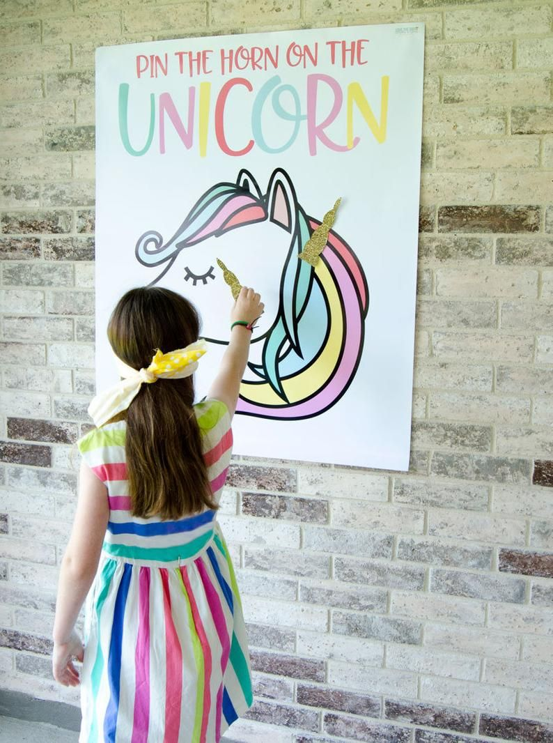 Pin The Horn On The Unicorn Game PRINTABLE (INSTANT DOWNLOAD) by Lindi Haws of Love The Day - Unicorn birthday, Diy unicorn party, Unicorn birthday parties, Pin the horn on the unicorn, Unicorn themed birthday, Rainbow unicorn party - lovethedayTwitter lovethedaydsignEmail lindi AT lovetheday DOT com  Buyer is welcome to print the file as many times as you want, but please, the design is for PERSONAL USE ONLY  Commercial use, file sharing, or reselling the design is not allowed  Thank you!Thanks and come visit me at lovetheday com!