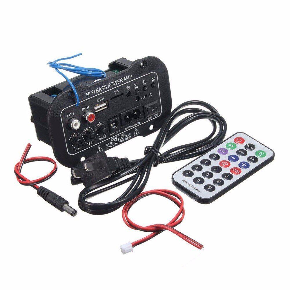 220V Car Bluetooth Amplifier HiFi Bass Power Amplifier