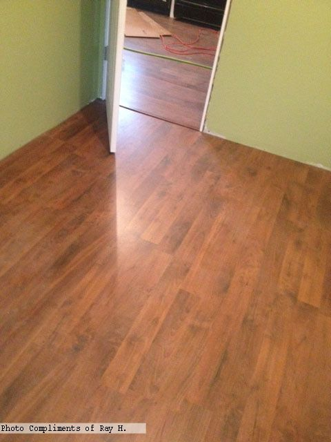Springfield Walnut Flooring With Greenwalls Photo