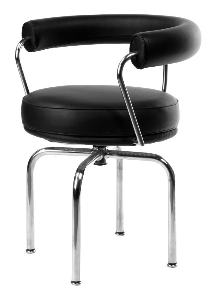 charles le corbusier inspired lc7 swivel chair stool. Black Bedroom Furniture Sets. Home Design Ideas