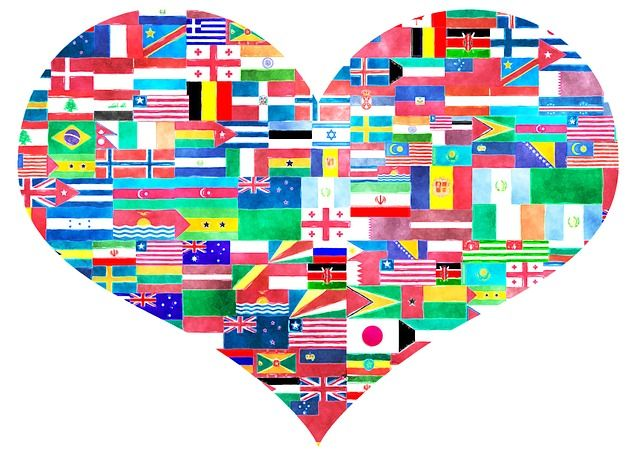 Heart, World-Flags, Symbol, Flags