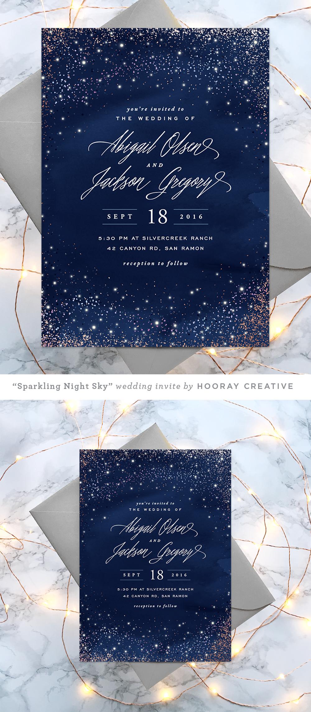 Starry Wedding Invitation Design