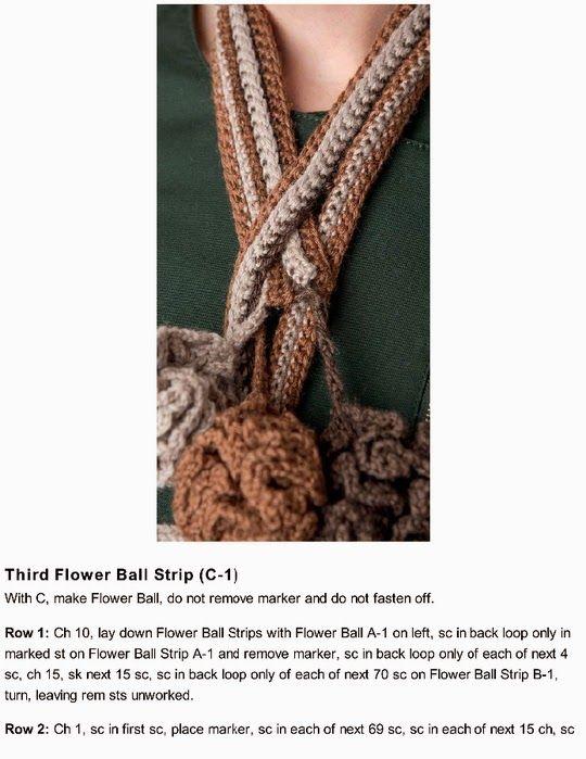 Bufanda Flores Crochet en Balon Patron - Patrones Crochet | Bufandas ...