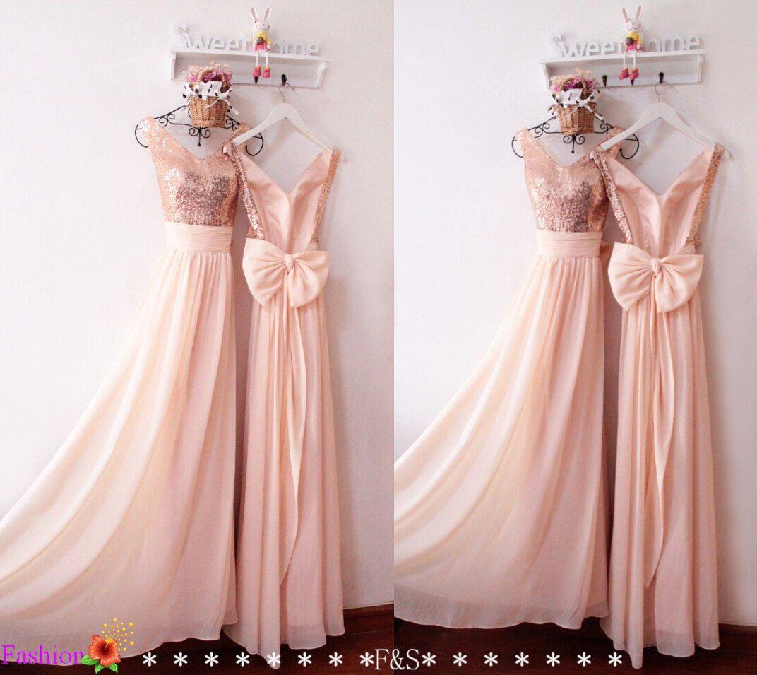 Bonito Sparkle Bridesmaid Dresses Motivo - Colección del Vestido de ...