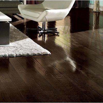 """Armstrong Prime Harvest 5"""" Solid Oak Hardwood Flooring in Blackened Brown"""