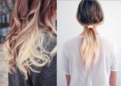 Straight Dirty Blonde Hair Tumblr Then The Ombre Look Got Even ...