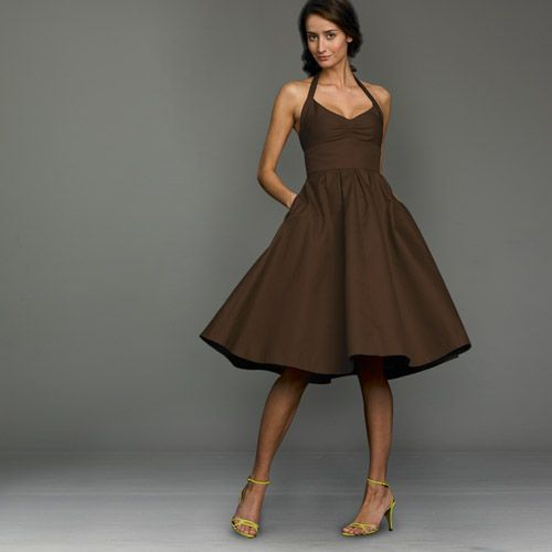 Chocolate Short Bridesmaid Dresses