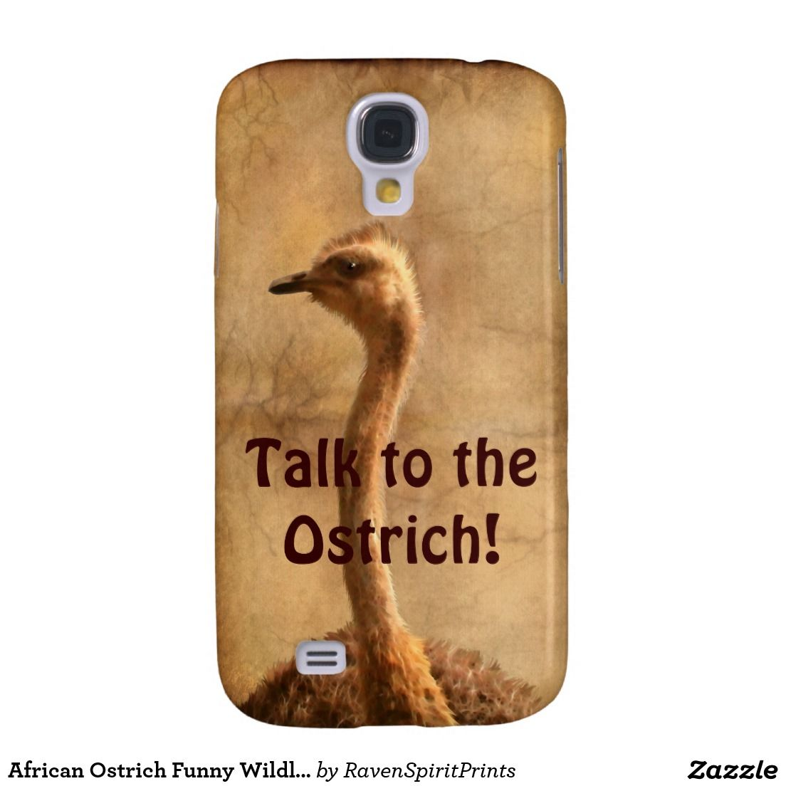 African Ostrich Funny Wildlife Phone Case