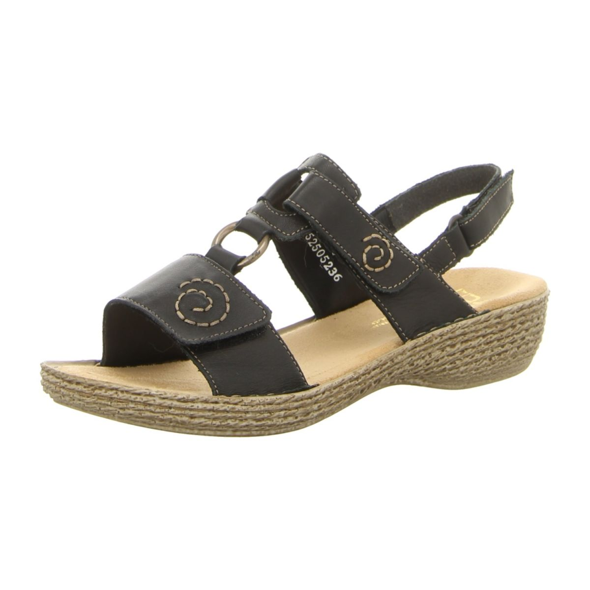 Rieker Schuhe Sandalette 65863 00 schwarz schwarz NEU