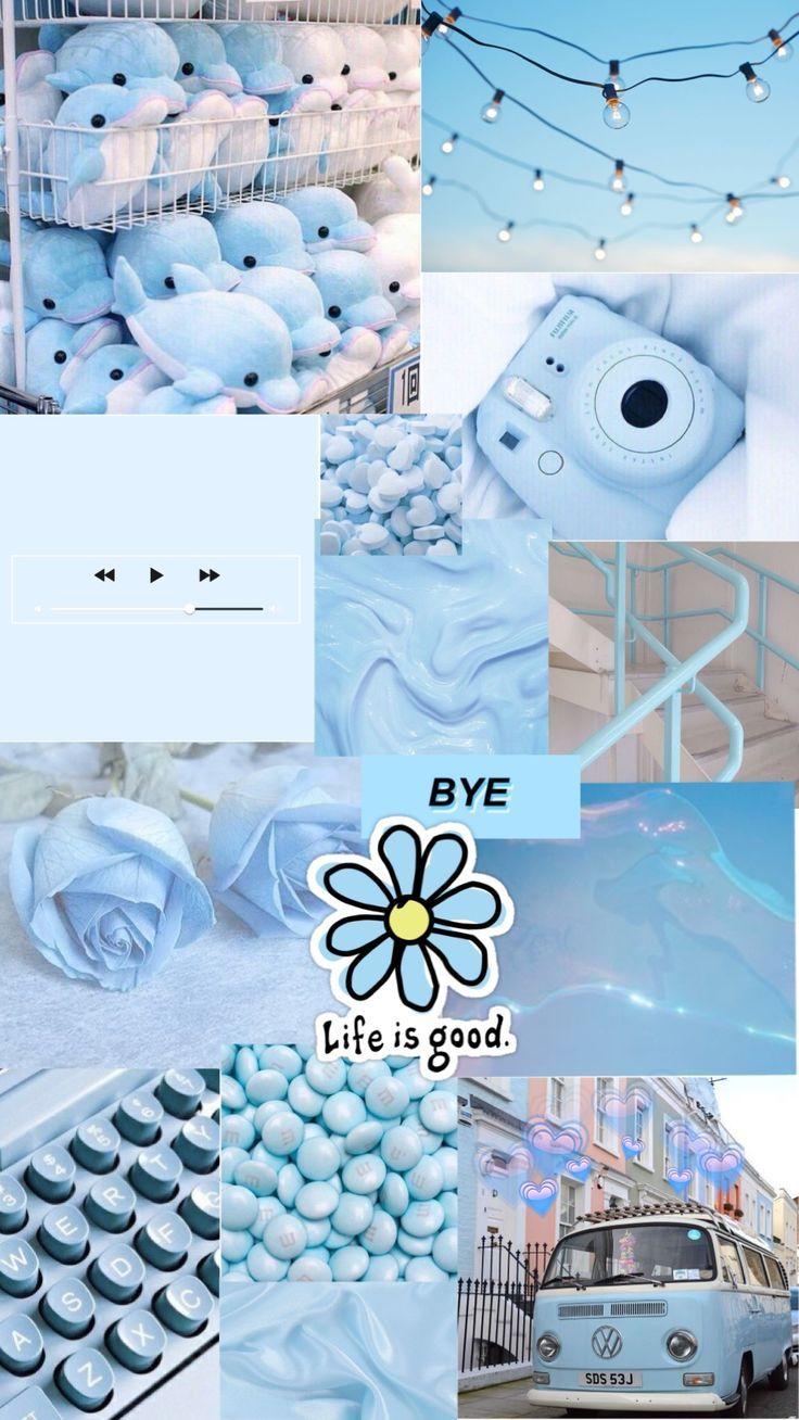 blue aesthetic background Anna Thess Fondos de