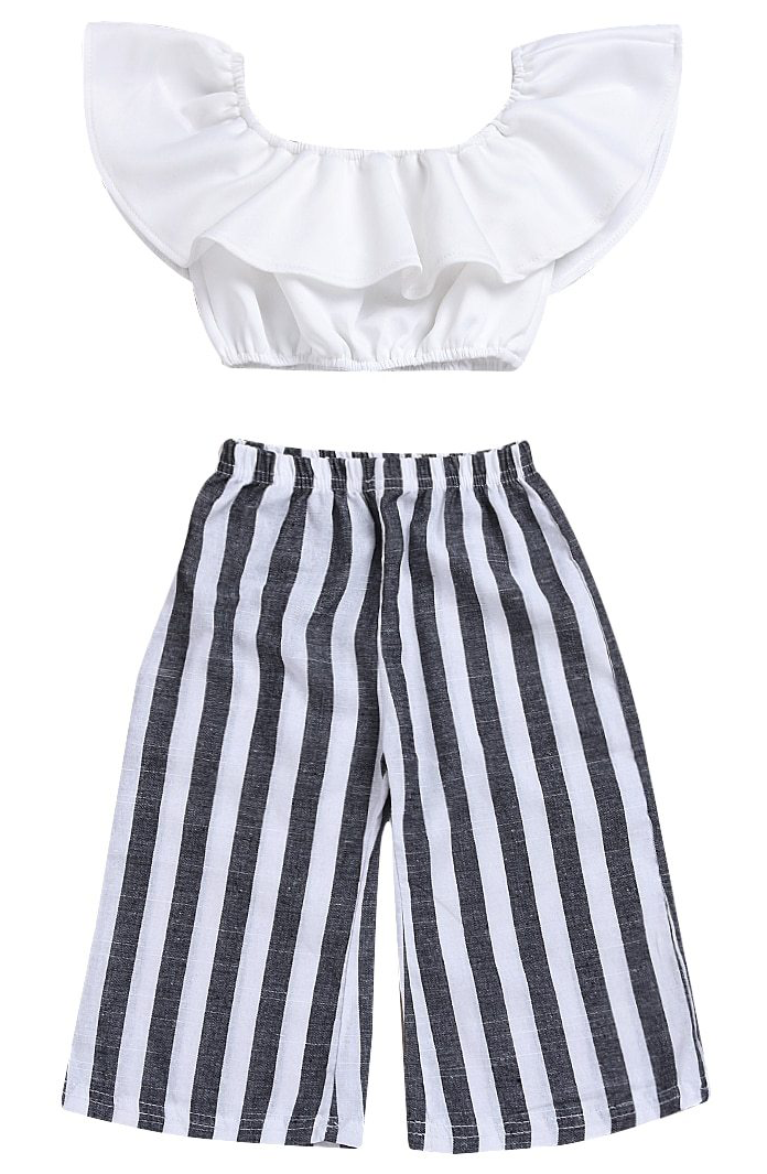 62563e8d61fb2 Striped Pants Set | Parenthood :) | Kids outfits girls, Kids outfits ...