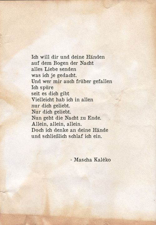 mascha kaleko poems and quotations pinterest gedicht. Black Bedroom Furniture Sets. Home Design Ideas