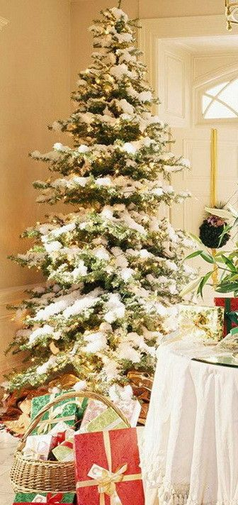 Christmas Tree Decorating Ideas_41 christmas Pinterest - white christmas tree decorations