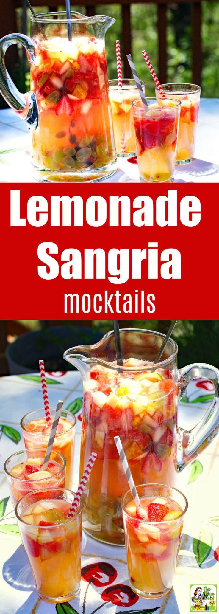 Lemonade Sangria Mocktails