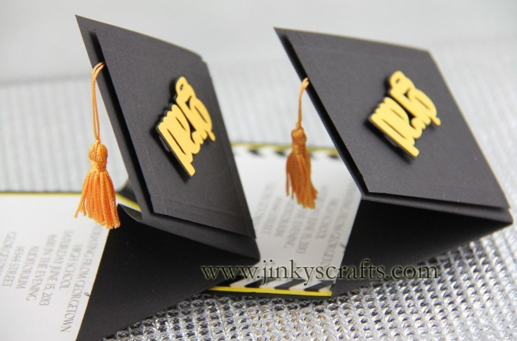 3D Graduation Cap Pop Up Invitations Announcement Custom Invitation Card Fully Customizable