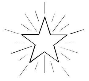 Schneeflocken und Sterne: Kostenlose Malvorlage: Stern 4 ...