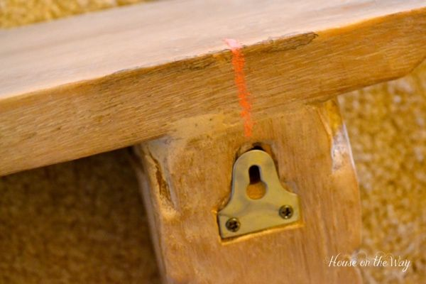 How to Hang a Shelf With Two Keyholes