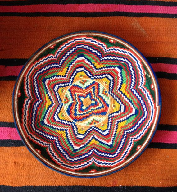 Lovely Vintage Moroccan Bread Basket/Tray by Artofvintagesouk