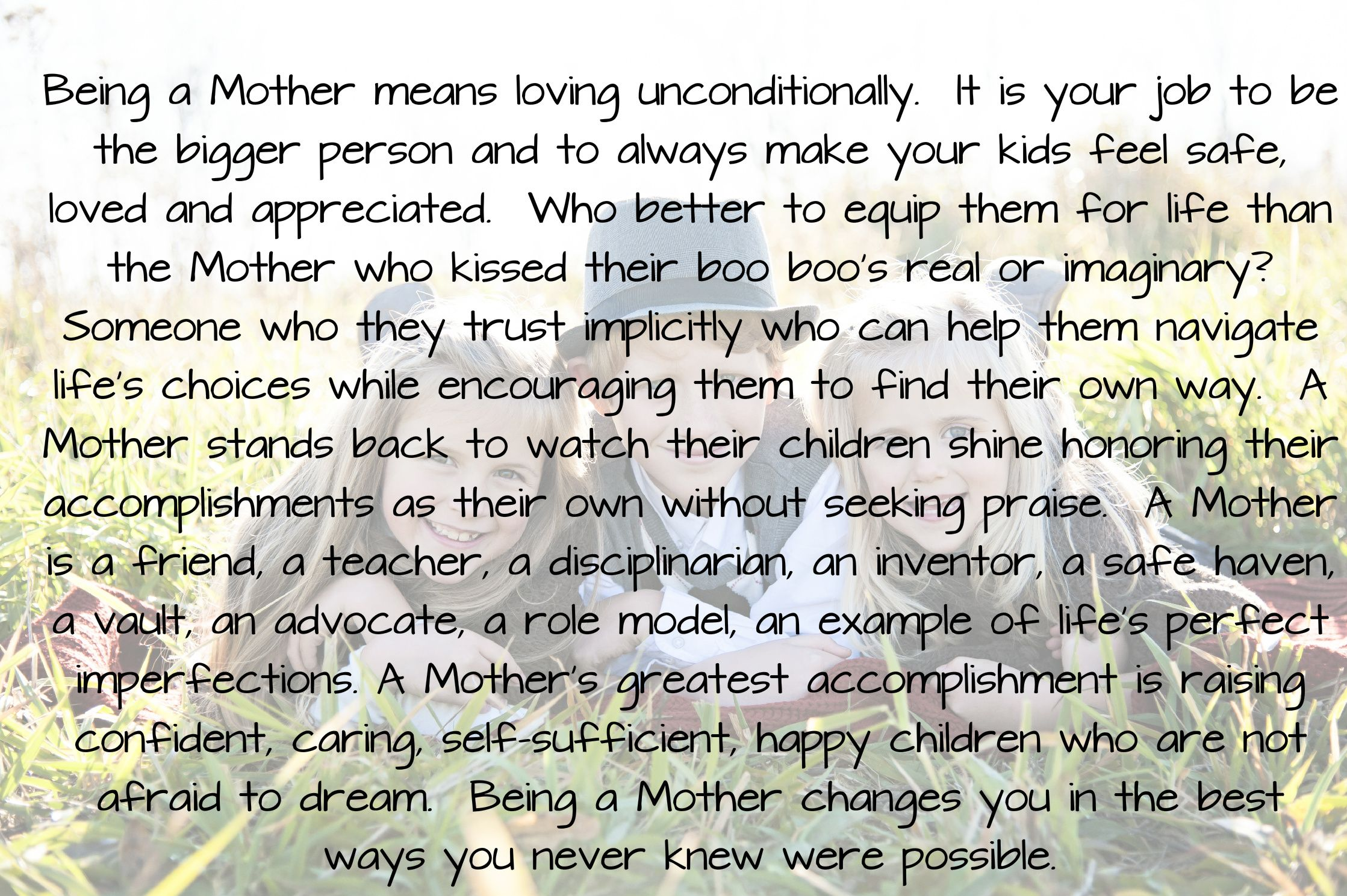 Being A Mother Quote!