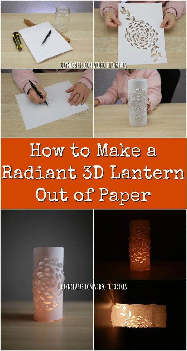 How to Make a Radiant 3D Lantern Out of Paper - If you are looking for a way to create a beautiful and unique lantern, you will love my latest project! Using only paper, I teach you how to create a stunning lantern with a 3D flower effect. #decoration #diy #crafts #paper #project #lantern