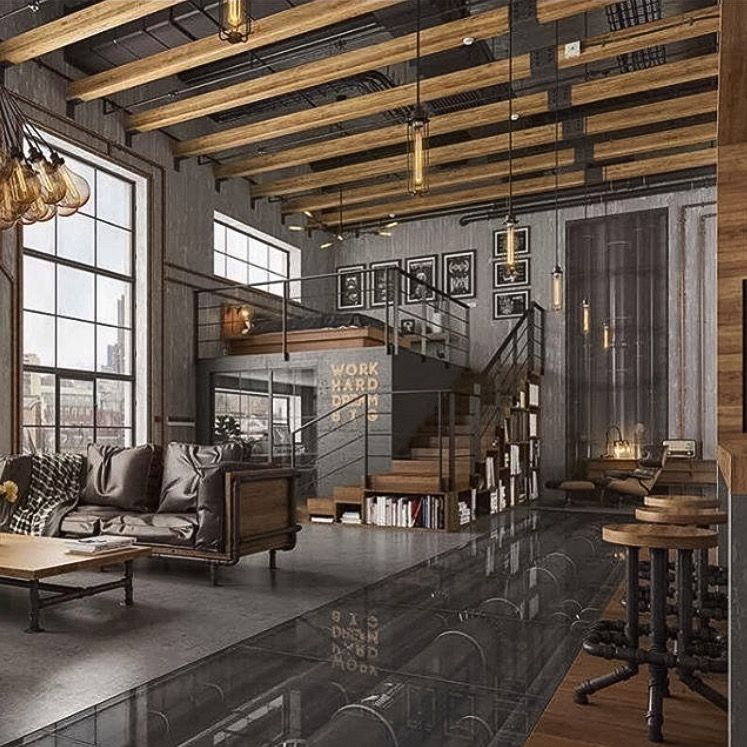 Industrial Home Design Spectacular Modern Industrial Home: Loft Design, Industrial Loft