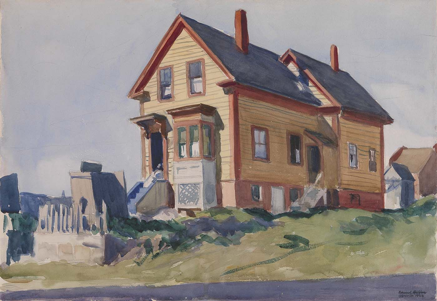 Edward Hopper - Painting Realism House In Italian