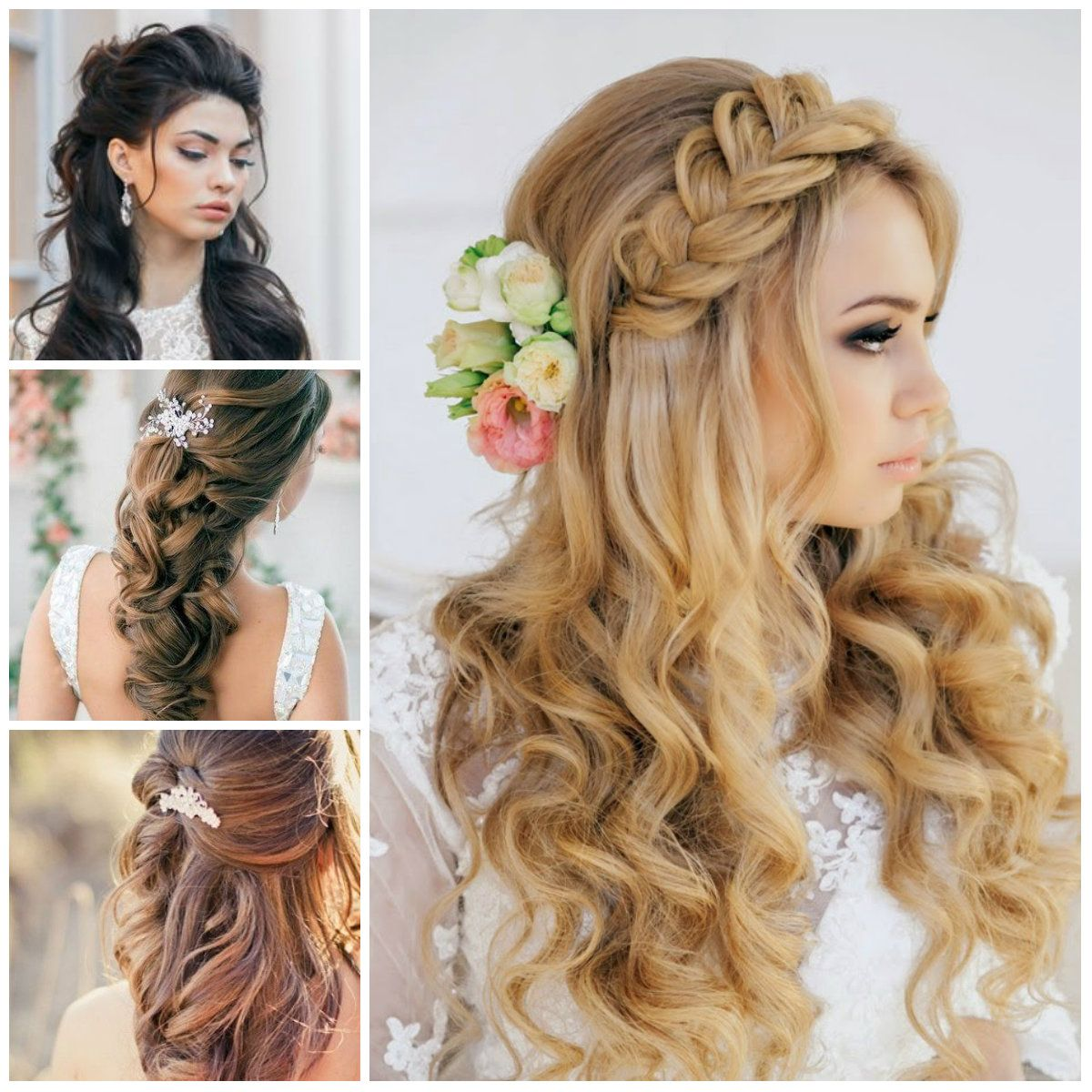 Nice Hairstyles For A Wedding Guest : Wedding half up down hairstyles for haircuts