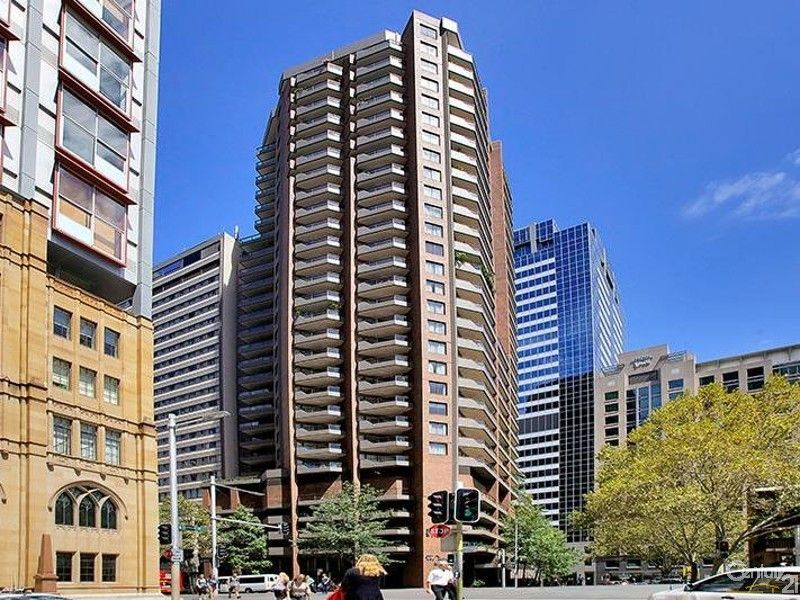 The York Apartments glimpses of the heritage facade on the