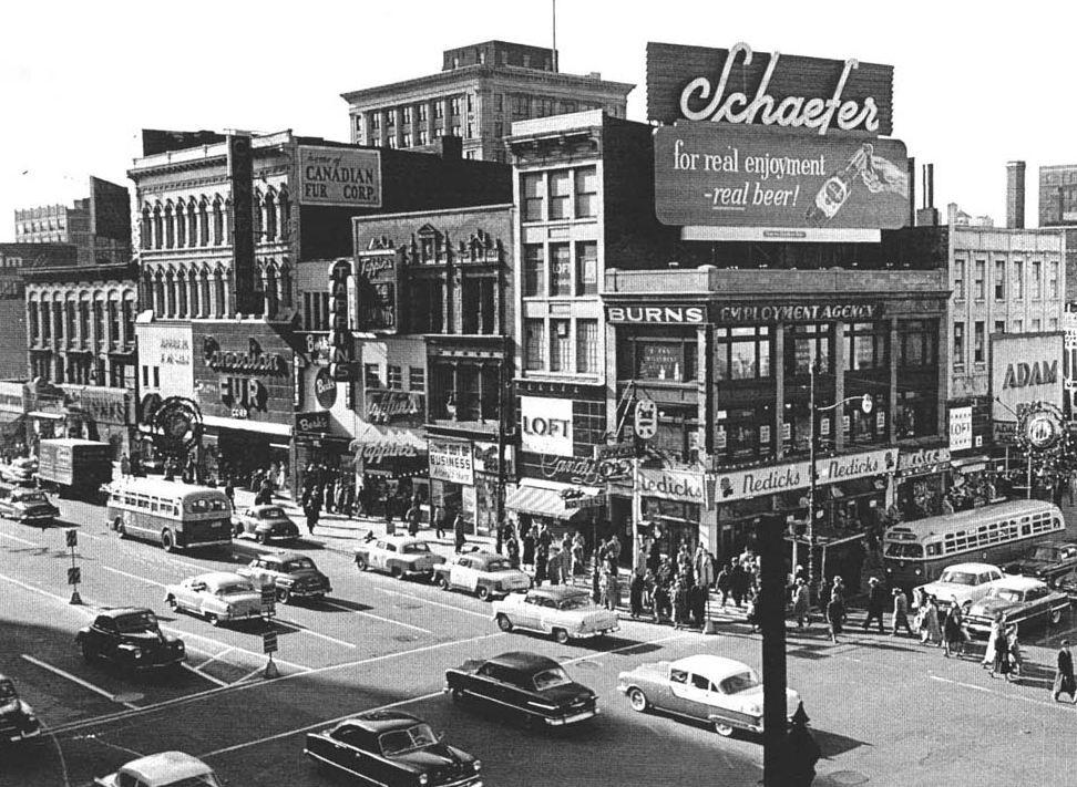 Broad & Market, Newark NJ 1955 Newark, Vintage new york