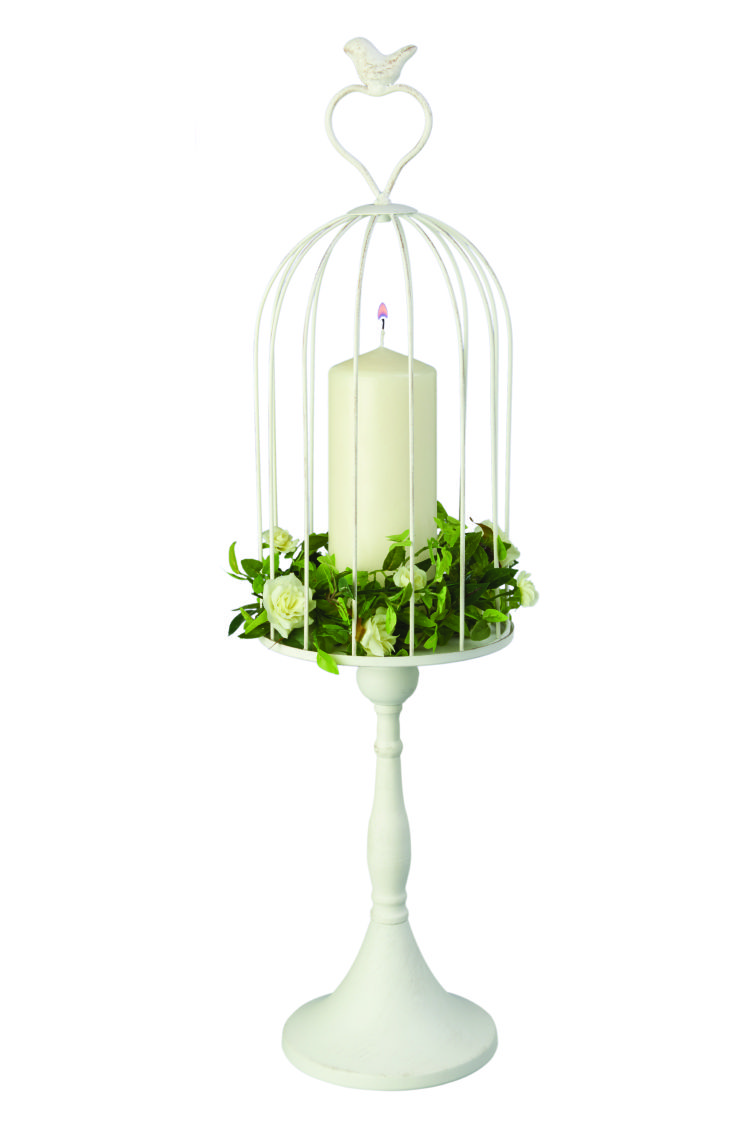 Perfect as a top table centre-piece, this Vintage Pedestal Bird Cage ...