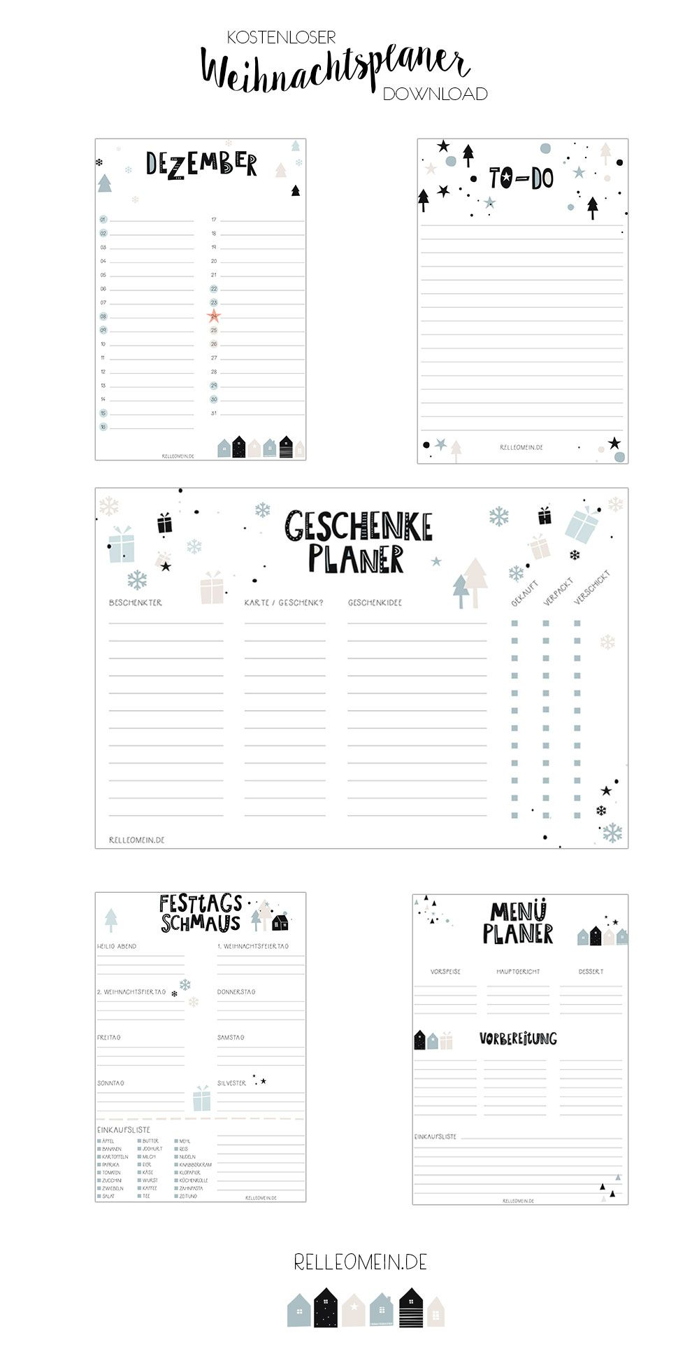 Photo of Christmas planner to print – recipes, order ideas and DIY | relleomein.de