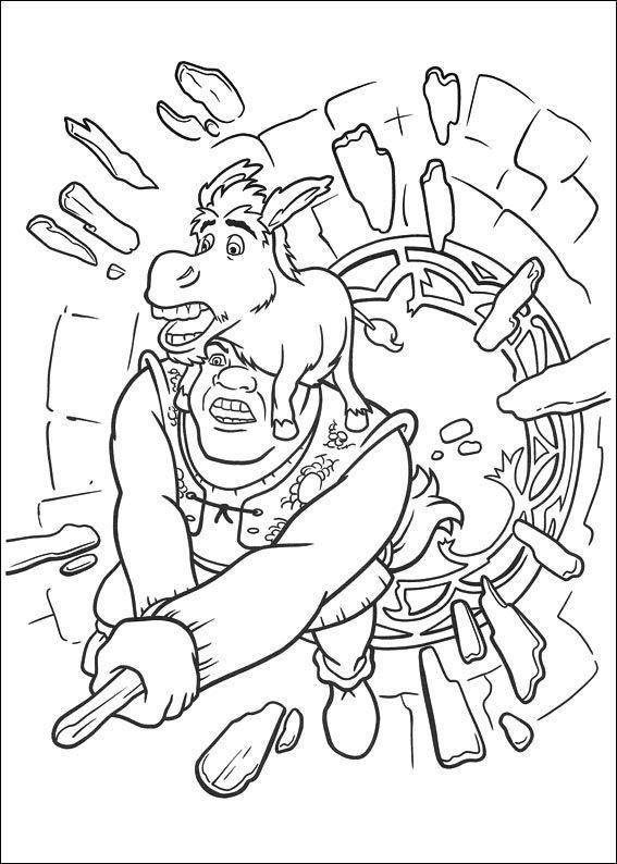 Dibujos para Colorear Shrek 115 | desarrollo de la inteligencia ...