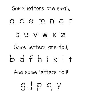 Some Letters are Small poetry page and pocket chart This is great - letter of recognition