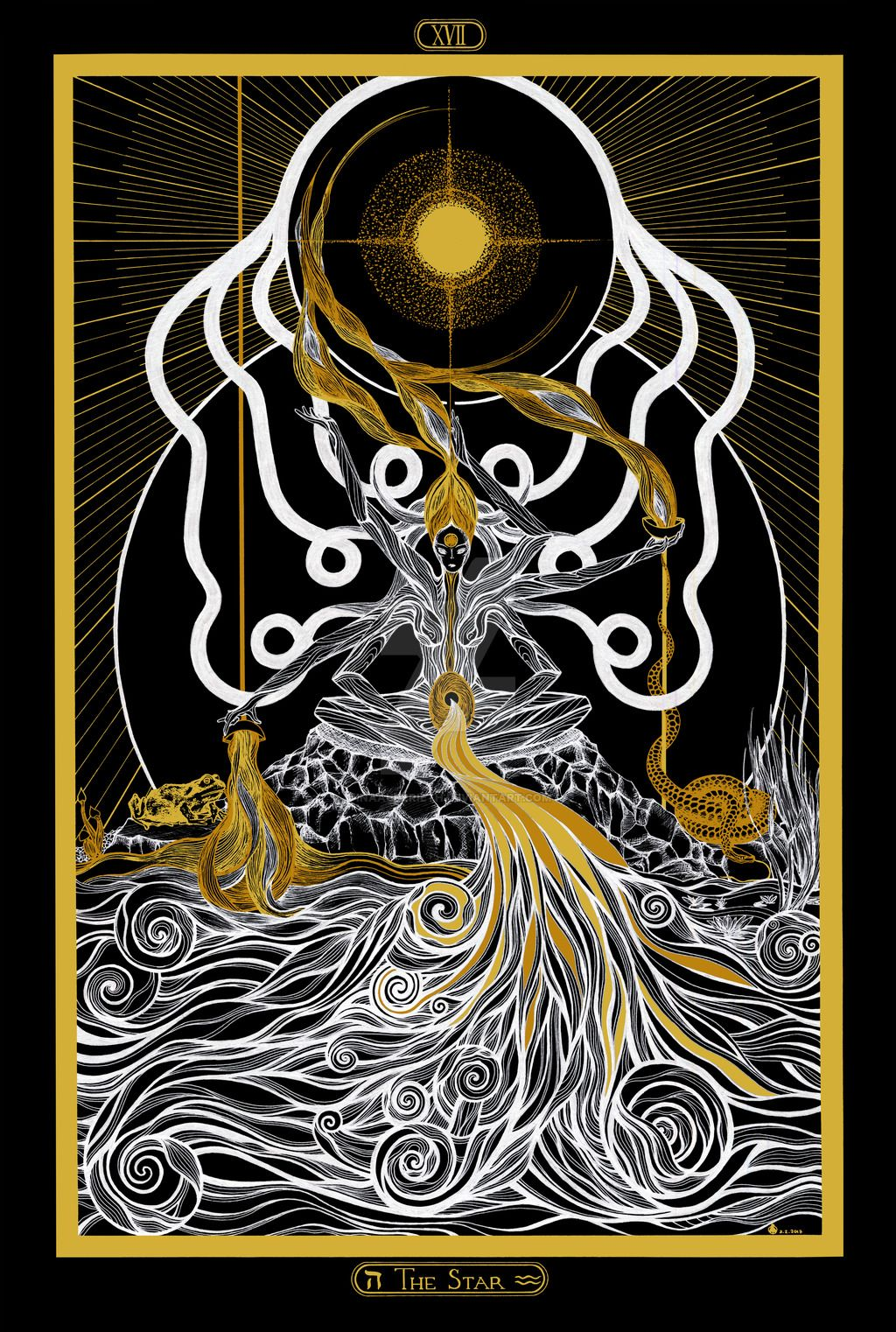 XVII - The Star Tarot by InaAuderieth | IB Art - Tarot | Star tarot