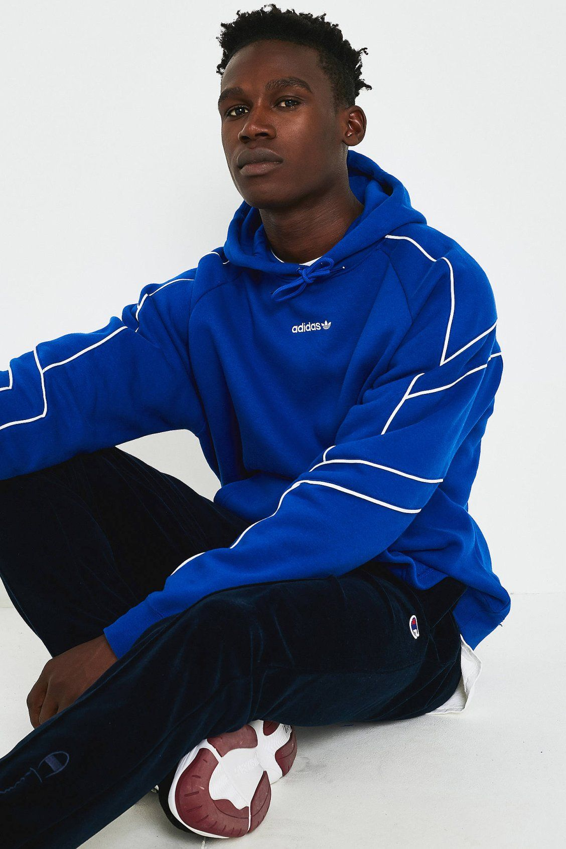 adidas EQT Blue Outline Hoodie | Urban outfitters men