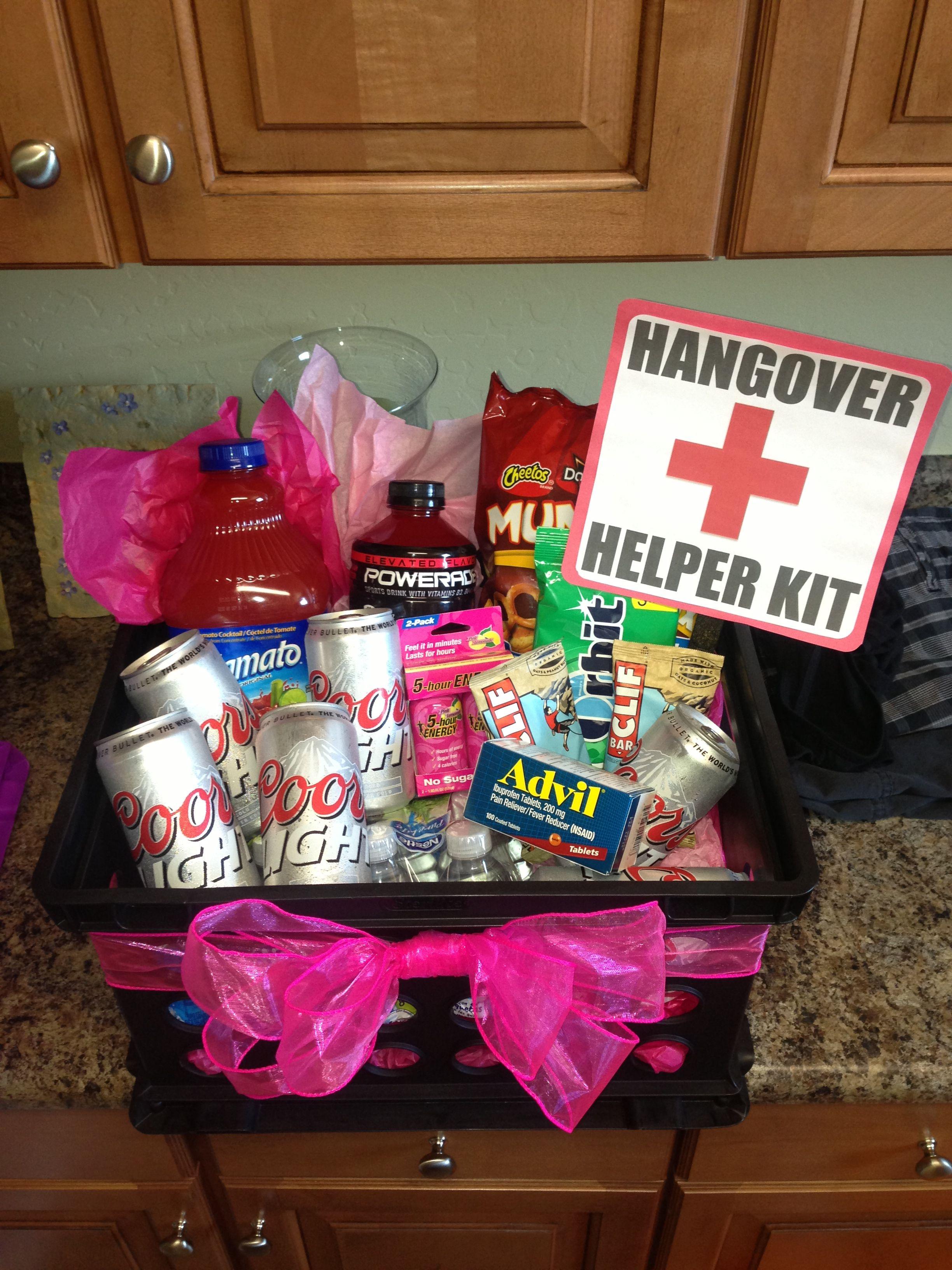 21st birthday hangover recovery kit diy