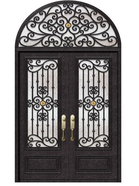 Hand Crafted 12 Gauge Wrought Iron Doors By Monarch Custom Doors 72 X 108 Ebay Iron Front Door Iron Doors Wrought Iron Doors