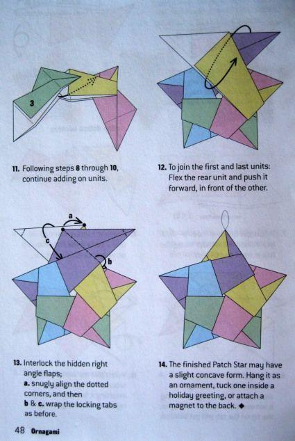 Origami orientations pour une étoile à cinq branches | Dolce Bellezza