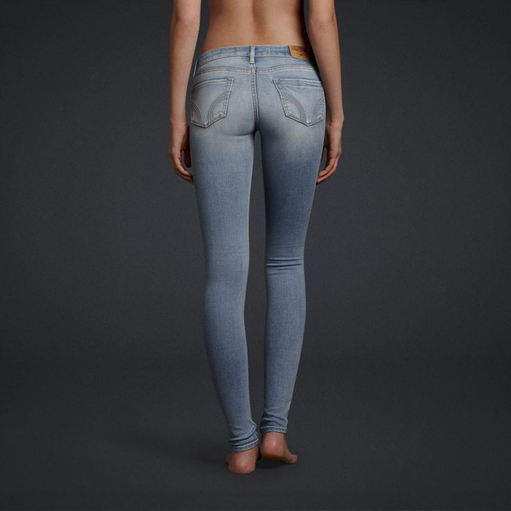Hollister HCO Embellished Light Wash Women's Sexy Super Skinny ...
