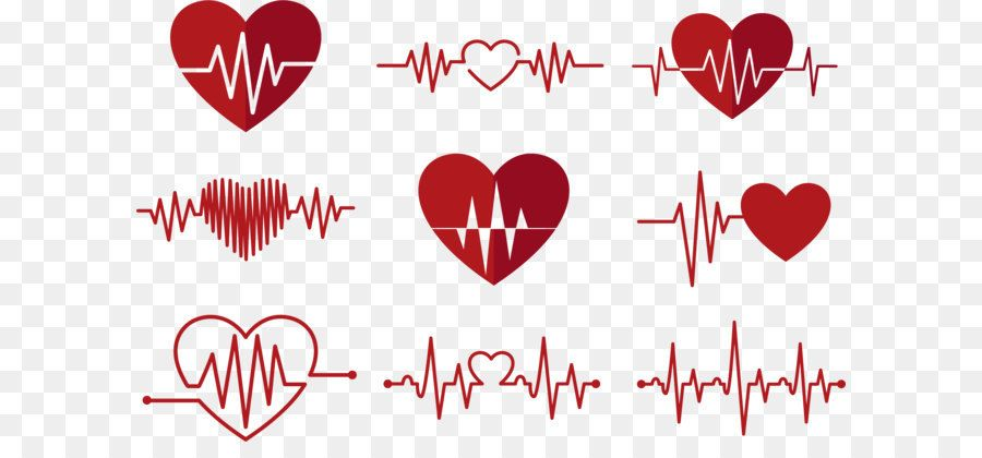 Heart Rate Monitor Electrocardiography Pulse Red Ecg Love Icon Lip Art Illustration Love Heart
