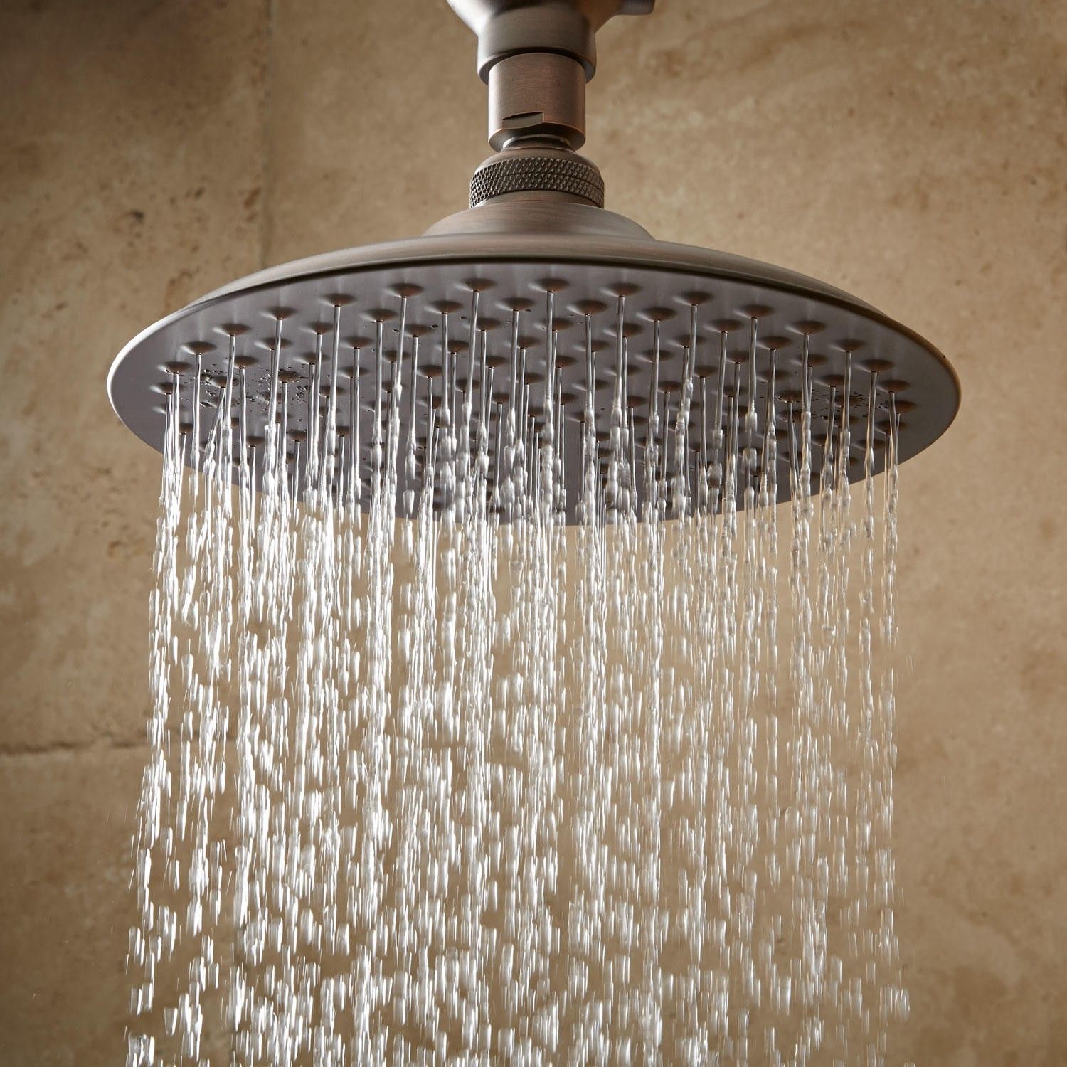 Bostonian Rainfall Shower Head With S Type Shower Arm Oil Rubbed