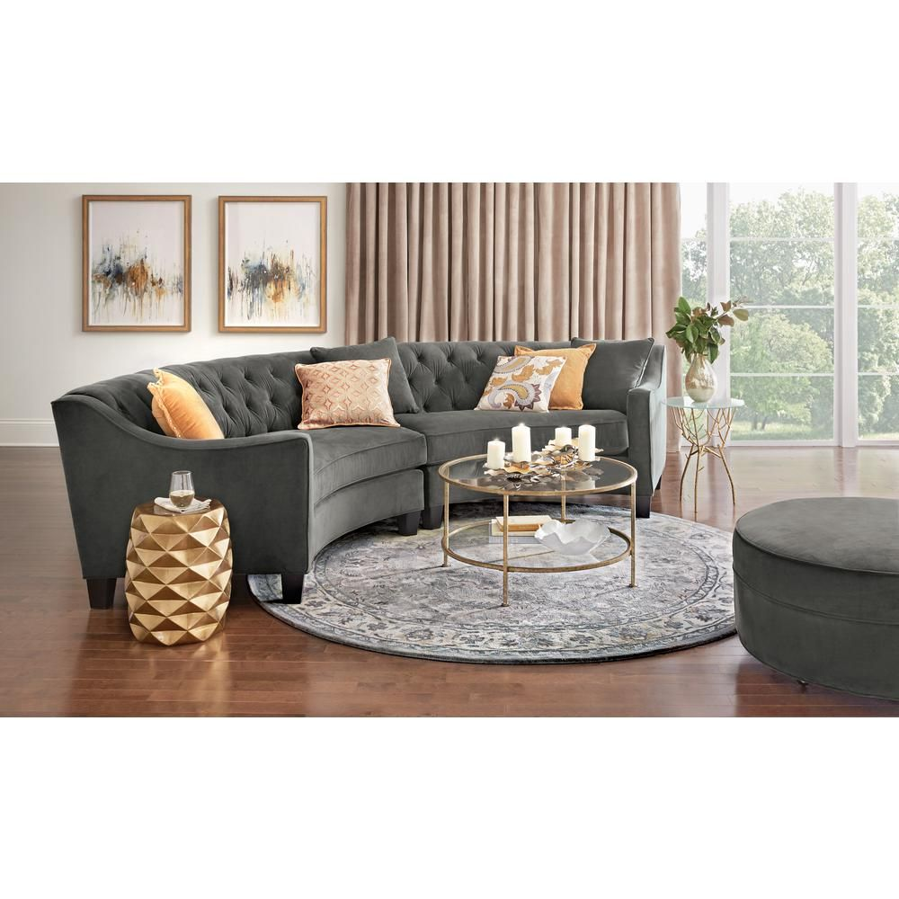 Home Decorators Collection Bella Aged Gold Coffee Table 9501200910 Curved Sofa Living Room Sectional Sofas Living Room Living Room Remodel