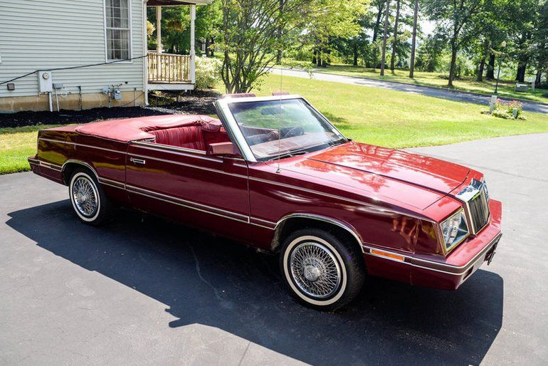 1982 Chrysler Lebaron Convertible Chrysler Cars For Sale