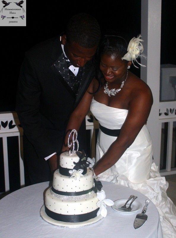 Black And White Old Hollywood Jamaica Destination Wedding Cake At Hummingbird Hall I Destination Wedding Jamaica Destination Wedding Venues Destination Wedding