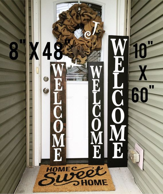Welcome Porch Sign Porch Welcome Sign Wooden Porch Sign Porch Welcome Sign Welcome Signs Front Door