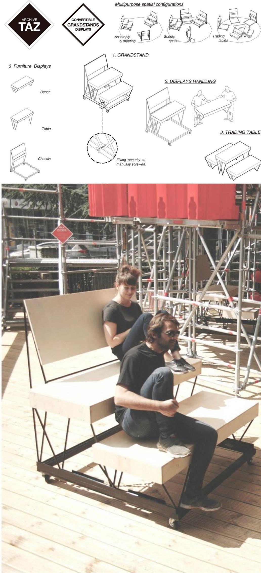 Ingenioso Mobiliario Diy Bancos Fruteros Y Reciclaje # Taz Muebles De Oficina