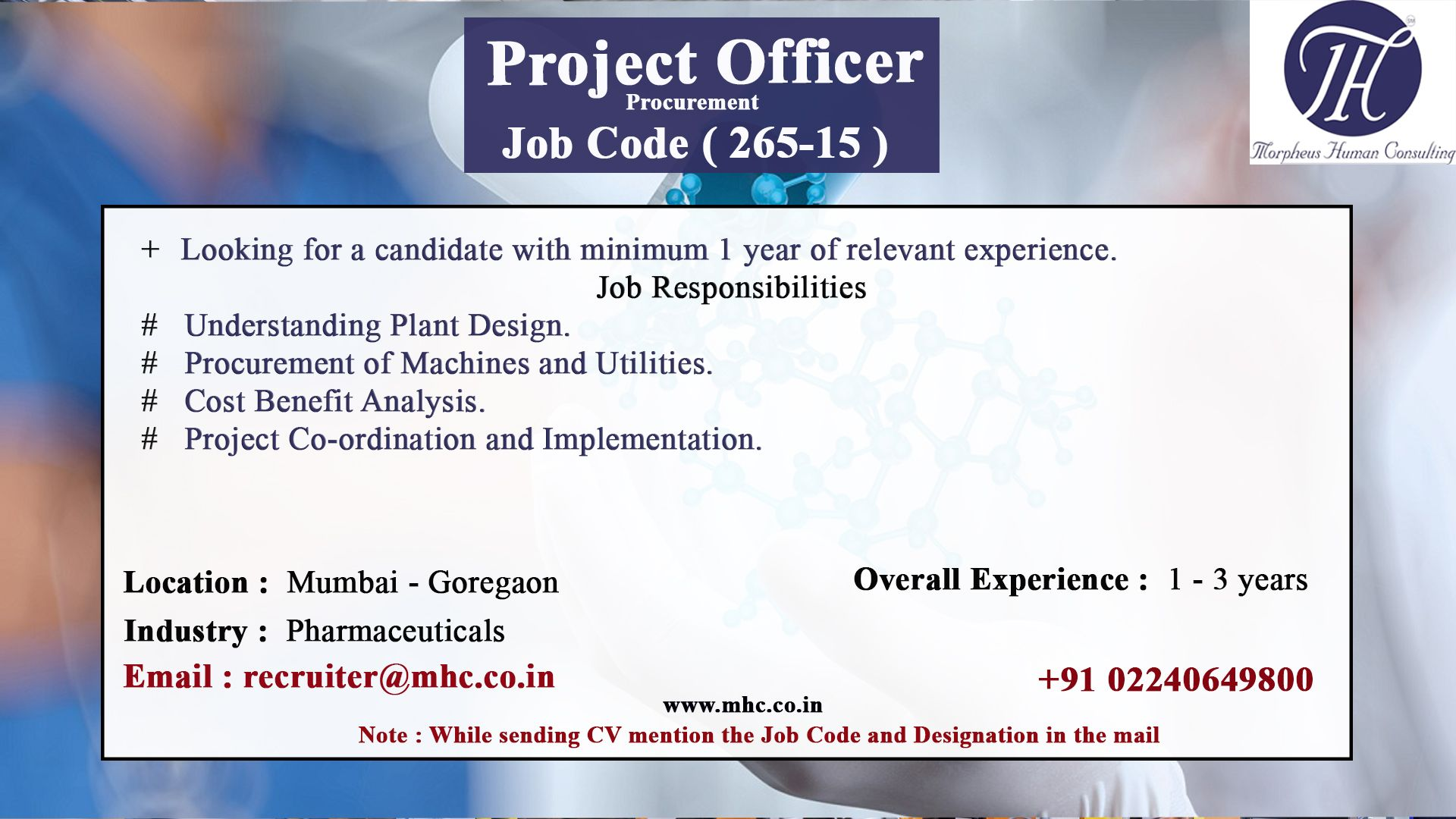 Pin by Morpheus consulting on Job postings Job posting