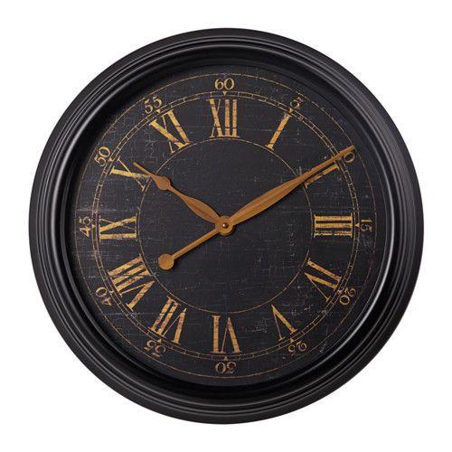 klysa wall clock metal black house shopping list pinterest wanduhr metall ikea. Black Bedroom Furniture Sets. Home Design Ideas